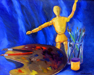 Painting - Artist Still-life by Rick Carbonell