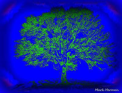 Digital Art - Artist Tree Blues by Mark Herman