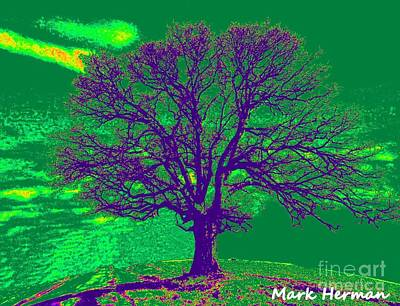 Digital Art - Artist Tree Green by Mark Herman