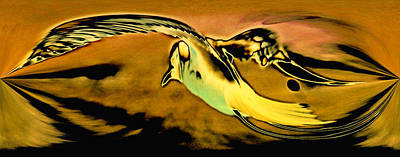 Photograph - Artistic Bird Yellow by Des Jacobs