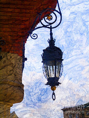 Photograph - Artistic Cloth Hall Lamp by Brenda Kean