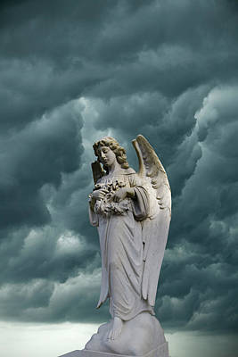 Religious Angel Art Photograph - Artistic Creation Of Angel And Dark by Jaynes Gallery