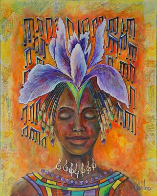 Negro Painting - Artistic Inspiration by Maria Valladarez