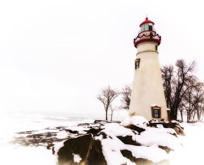 Photograph - Artistic Marblehead Lighthouse by Jack R Perry