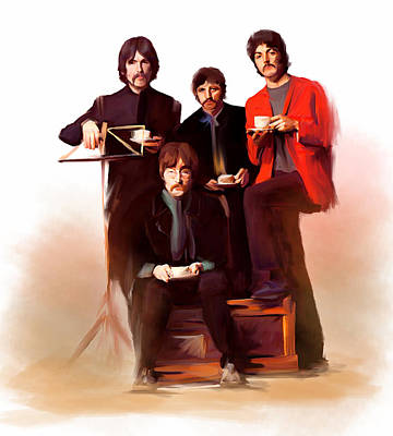 The Beatles Classic Fabs  Art Print by Iconic Images Art Gallery David Pucciarelli