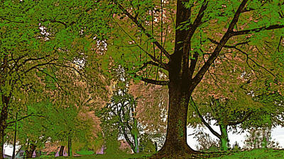 Artistic Touch Trees And More Art Print by Beverly Guilliams