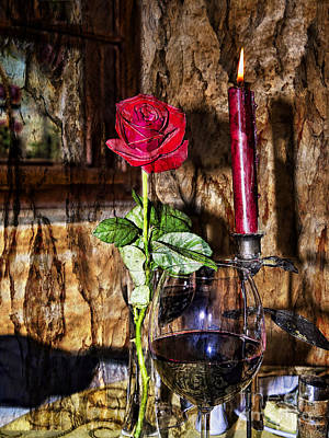 Photograph - Artistic Wine And Roses by Brenda Kean