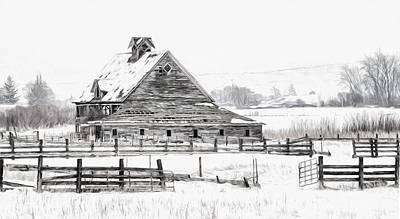 Photograph - Artistic Winter Barn by Mary Jo Allen