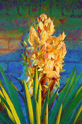 Artistic Yellow Yucca Art Print by Linda Phelps