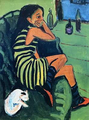 Berlin Germany Painting - Artistin by Ernst Ludwig Kirchner