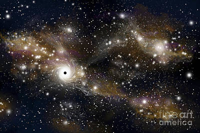 Jet Star Digital Art - Artists Concept Of A Black Hole by Marc Ward
