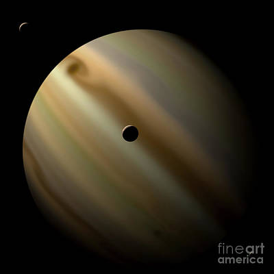 Artists Depiction Of A Gas Giant Planet Art Print by Marc Ward