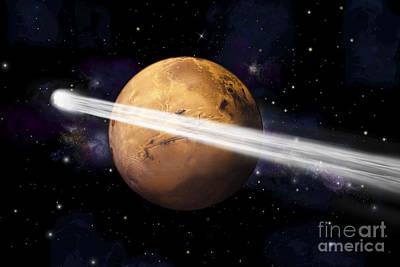 Surrealism Digital Art - Artists Depiction Of The Comet C2013 A1 by Marc Ward