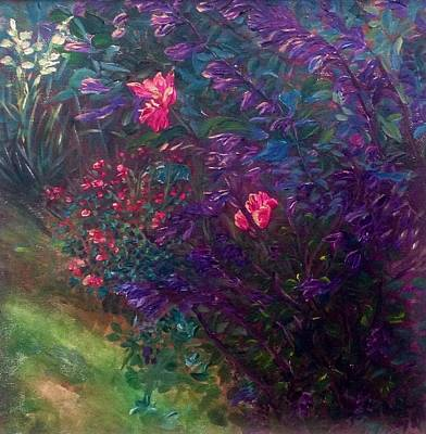 Painting - Artist's Garden In Spring I by J Reynolds Dail
