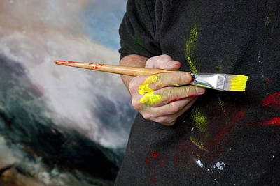 Wall Art - Painting - Artist's Hand by Neil McBride