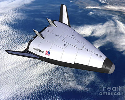 X-plane Digital Art - Artists Rendering Of The X-33 Reusable by Stocktrek Images