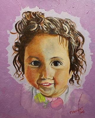 Painting - Artist's Youngest Daughter by Marwan  Khayat