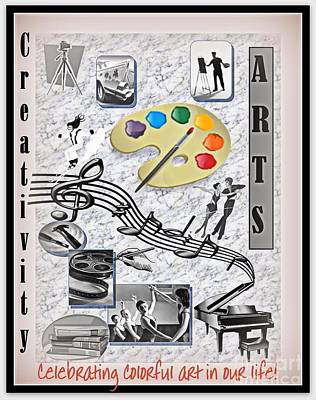 Digital Art - Arts Creativity Poster  by Bobbee Rickard