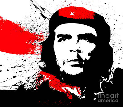Che Digital Art - Artsy Che Guevara by Theodora Brown