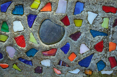 Photograph - Artsy Glass Chip Sidewalk by Tikvah's Hope