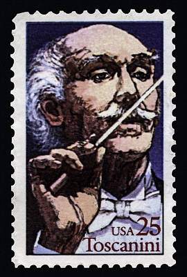 Photograph - Arturo Toscanini Conducting Stamp by Phil Cardamone