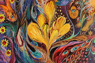 Good Luck Painting - Artwork Fragment 82 by Elena Kotliarker