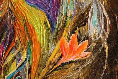 Artwork Fragment 98 Art Print by Elena Kotliarker