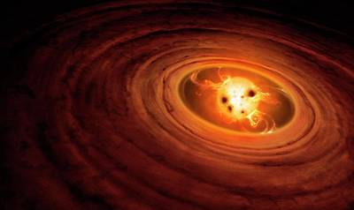 Stellar Photograph - Artwork Of A T Tauri Star by Mark Garlick