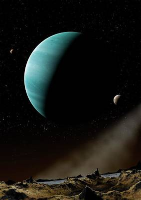 Exoplanet Photograph - Artwork Of Exoplanet Hd69830 by Mark Garlick