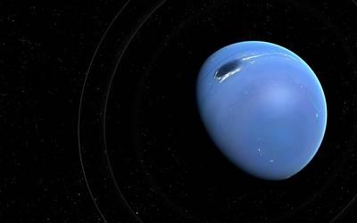 Artwork Of Planet Neptune Art Print by Mark Garlick