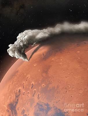 Artwork Of Supervolcano Erupting On Mars Art Print