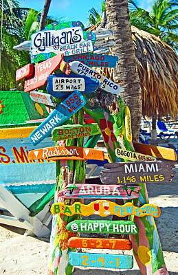 Aruba Fun Signs Art Print by Caroline Stella