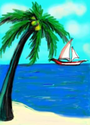Digital Art - Aruba by Rae Chichilnitsky
