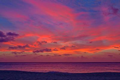 Fushia Photograph - Aruba Sunset by Jemmy Archer