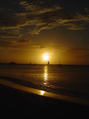 Photograph - Aruba Sunset by Vadim Levin