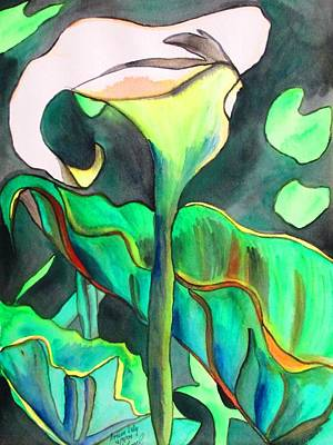 Arum Lily Art Print by Sacha Grossel