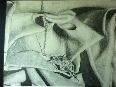 Arwen Drawing - Arwen's Necklace by Victoria Goodman