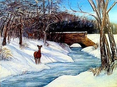 Painting - As A Deer by Gail Kirtz