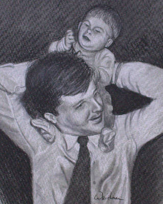 Drawing - As A Father Carries His Son by Kathy Weidner