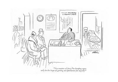 As A Matter Of Fact Art Print