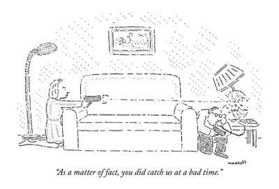 As A Matter Of Fact Art Print by Robert Mankoff