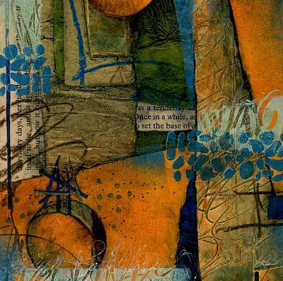 Blue Abstracts Mixed Media - As A Tendency  by Laura  Lein-Svencner