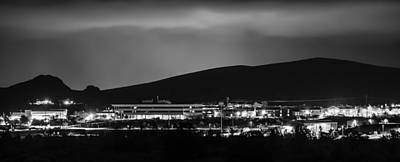 Photograph - As Ac1 Goes Dark The Library Lights Up by Alan Marlowe