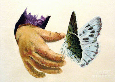 Pallet Knife Painting - As Delicate As A Butterfly  by Tatjana Popovska