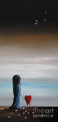 Floating Girl Painting - As Dreams Pass Her By By Shawna Erback by Shawna Erback