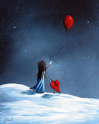Hope Painting - As Her Heart Breaks By Shawna Erback by Shawna Erback