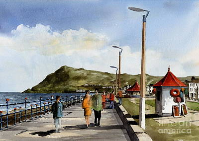 Painting - Promenade Bray Wicklow New Lighting by Val Byrne