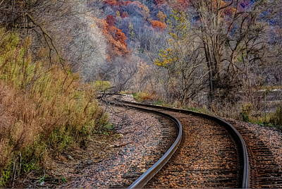 Photograph - As I Walk The Tracks I Think by Kelly Marquardt