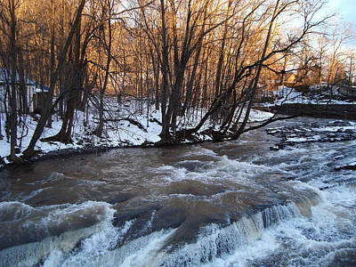 Photograph - As Morning Arrives The Kaaterskill Creek Races At The Tannery Bridge by Zackary Jones