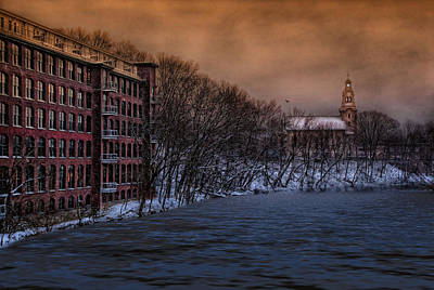 Old Mills Photograph - As Night Falls by Robin-Lee Vieira